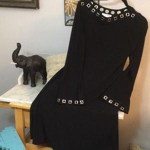 Awesome Design Silver Grommet Little Black Dress10